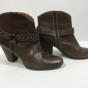 Söfft Brand Brown Leather Booties